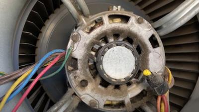 furnace cleaning - clean blower fan