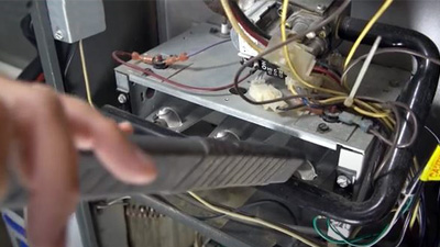 furnace cleaning - vacuum inside