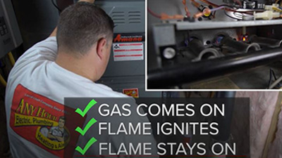 furnace cleaning - turn furnace on and listen