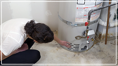 catch leaks in your home - water heater