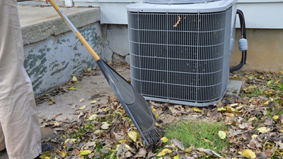don't forget the air conditioner - clean around it