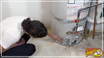 check water heater for leak