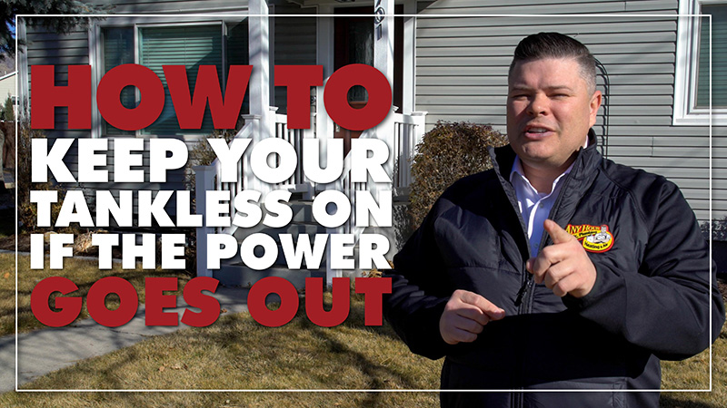 How to Keep Your Tankless Water Heater On If The Power Goes Out
